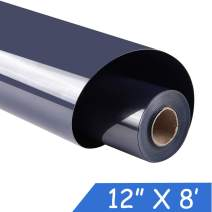 "guangyintong Heat Transfer Vinyl for T-Shirts 12"" x 8ft Roll Glossy (Navy Blue k19)"