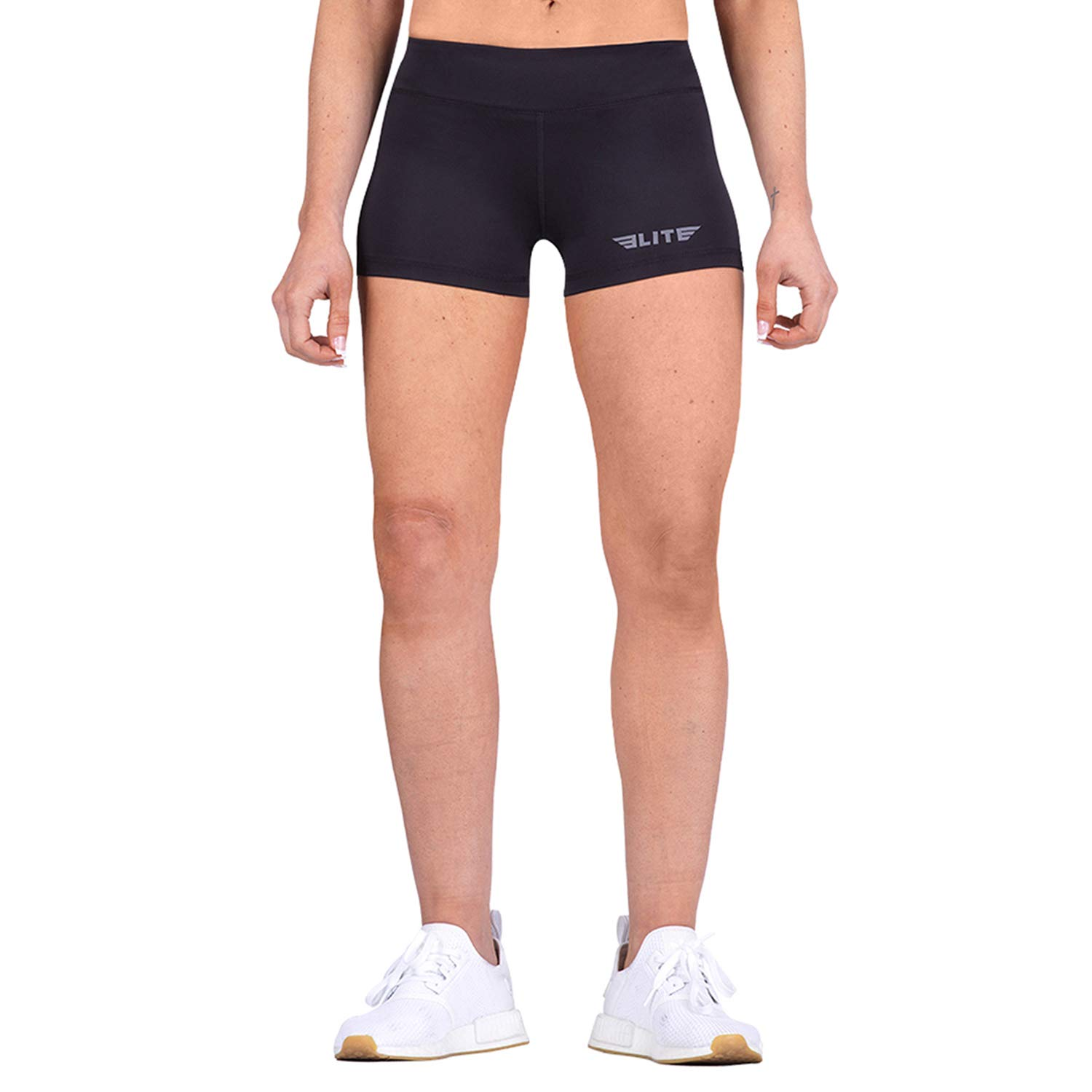 Elite Sports Women's Training Compression Shorts, Workout Running Exercise Yoga Shorts for Women