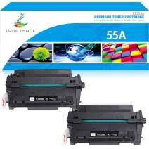 True Image Compatible Toner Cartridge Replacement for HP 55A CE255A CE255X 55X Laserjet P3015 P3011 P3010 Enterprise 500 MFP M521dn M525dn M525f M521dw Ink Printer (Black, 2-Pack)