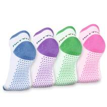 Matymats No Show Non Slip Skid Socks with Grips - Ballet Yoga Pilates Barre Dance for Women