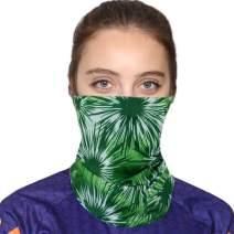 FEOYA Unisex Seamless Face Shield Bandanas Headband 3D Printed for Dust Outdoors Festivals