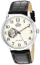 Orient Men's '2nd Generation Esteem' Japanese Automatic Stainless Steel and Leather Dress Watch