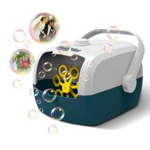 ETE ETMATE Automatic Bubble Machine, Portable Rechargable Bubble Maker, High Output Indoor Outdoor Bubble Blower, for Kids Party Decoration