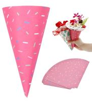 Self-Adhesive Flower Packaging Paper Bouquet Wrapper Candy Food Paper Conesfrom Ocharzy (20 pcs, Rose)