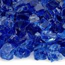 American Fireglass 10-Pound Fire Glass with Fireplace Glass and Fire Pit Glass, 1/2-Inch, Cobalt Blue