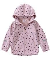 M2C Girls' Fleece Lined Softshell Hoodie Jacket Windproof Coat