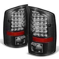 For Black 02-06 Dodge Ram 1500 03-06 Ram 2500 3500 Pickup Truck LED Tail Lights Brake Lamp Replacement