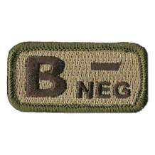 """Tactical Blood Type Patches -""""Type B Negative"""" - 2""""x1"""""""