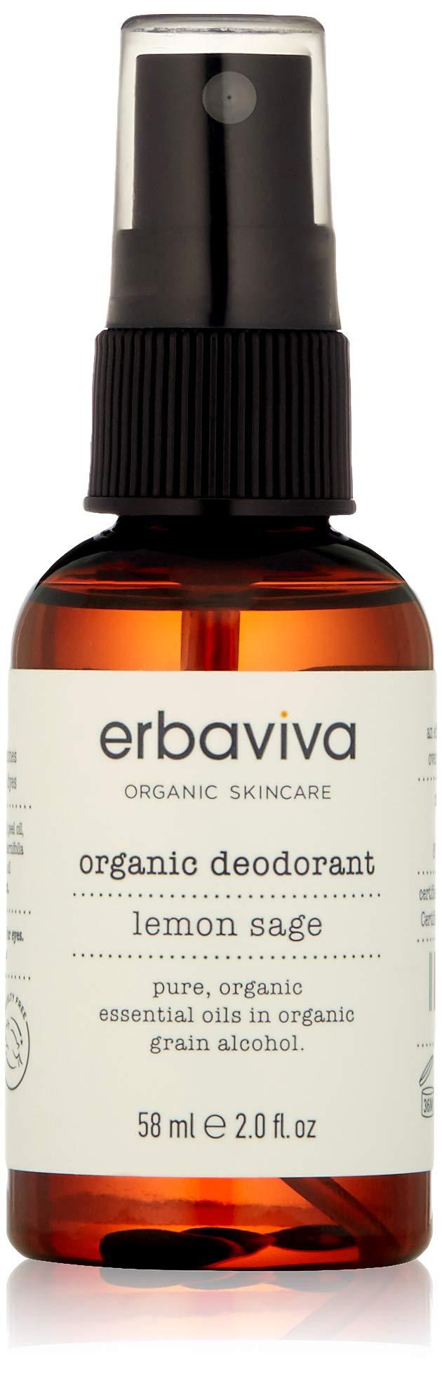 erbaviva Organic Deodorant, Lemon & Sage, 2 Fl Oz