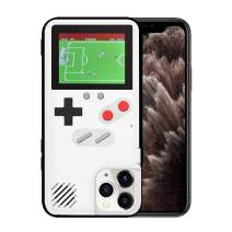 KOBWA Gameboy Case for iPhone,Retro 3D Gameboy Design Style Silicone Cover Case with 36 Small Games,Color Screen,Video Game Cover Case for iPhone 11/11Pro/11Pro,and More (White, iPhone 11 Pro Max)