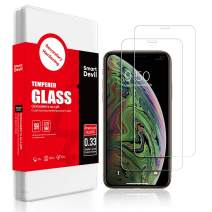 [2 Pack] SmartDevil Screen Protector for iPhone 11 Pro, iPhone Xs/X[Anti-Fingerprint] [Easy Installation] [Case Friendly] Screen Protective Glass for iPhone 11 Pro,iPhone Xs/X [5.8 Inch]