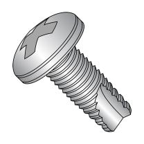 "18-8 Stainless Steel Thread Cutting Screw, Plain Finish, Pan Head, Phillips Drive, Type 23, #4-40 Thread Size, 1/4"" Length (Pack of 100)"