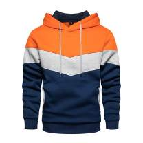Mens Long Sleeve Casual Multicolor Pullover Drawstring Hoodie Hem Curved Basic Breathable Sweatshirt