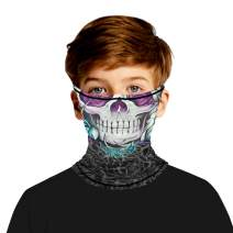 TENMET Kids Summer Face Mask Ear Loops Neck Gaiter Scarf Breathable Bandana for Hot Summer Outdoor 7-14 Years