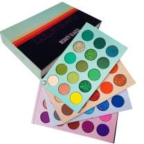 Beauty Glazed Eyeshadow Palette 60 Colors Mattes and Shimmers High Pigmented Color Board Palettes Long Lasting Makeup Palette Blendable Professional Eye Shadow Make Up Eye Cosmetic