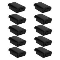 HQMaster 10 Pack Black Battery Cover Shell Case for Xbox 360 Wireless Controller