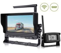 """Calmoor 1080P Wireless Backup Camera System with HD 7"""" Monitor Rear View Camera Digital Signal Anti Interference Reverse for Travel Trailers RV Pickup Trucks Motorhome IP69K Waterproof Night Vision"""
