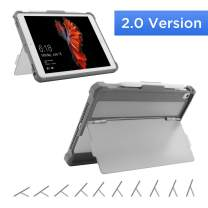 Maxjoy Case for 9.7 iPad 2018/2017, iPad Air 2/1 Case Cover, iPad Pro 9.7 Case, Protective But Slim + Secure Multi Angle Kickstand + Pencil Holder for iPad 9.7 inch 5th/6th Gen,【2.0 Version】,Grey