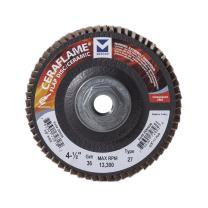 "Mercer Industries 269H036 Ceraflame Ceramic Flap Discs, Type 27, 4-1/2"" x 5/8""-11, Grit 36, (10 Pack)"
