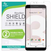 (2-Pack) Google Pixel 3 Screen Protector RinoGear Case Friendly Screen Protector for Google Pixel 3 Accessory Full Coverage Clear Film