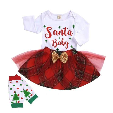 3PC Baby Girl Skirt Outfit My 1st Valentine's Day Toddler Girls Romper and Sequins Dots Skirts with Headband Clothes Set