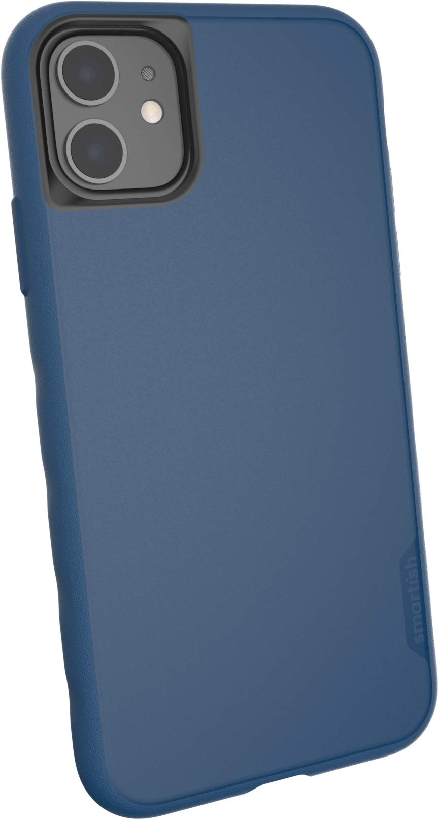 Smartish iPhone 11 Slim Case - Kung Fu Grip [Lightweight + Protective] Thin Cover (Silk) - Blues on The Green