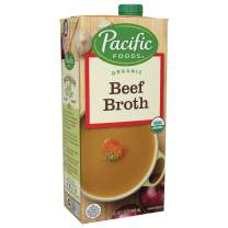 Pacific Foods Organic Beef Broth, 32oz, 12-pack Keto Friendly