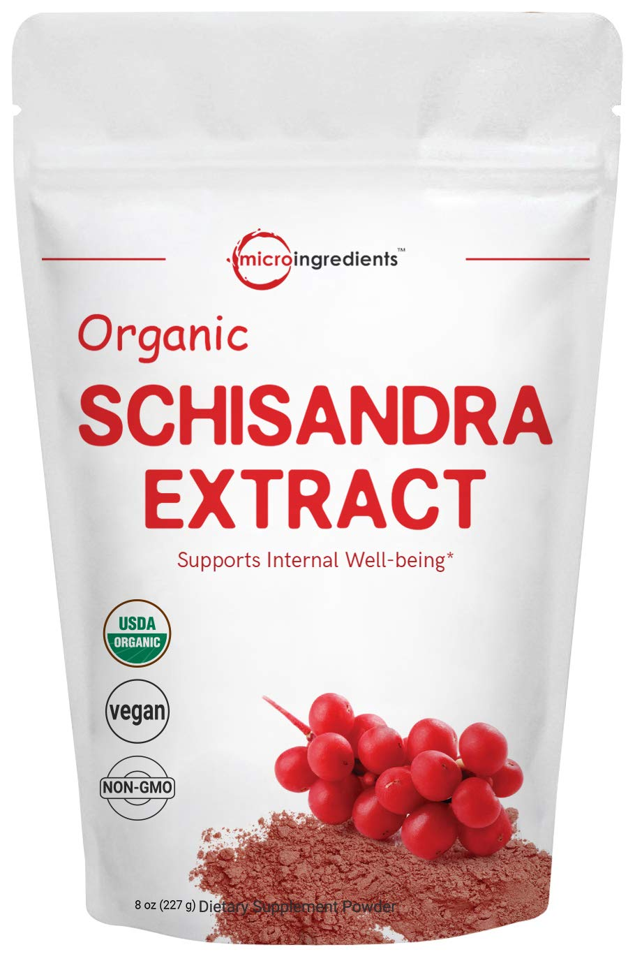 Organic Schisandra Extract Powder, 8 Ounce, Pure Schisandra Supplement, Anti Aging Adaptogenic Herb, Powerfully Supports Liver Detox, Cognitive Health and Stress Relief, No GMOs and Vegan Friendly