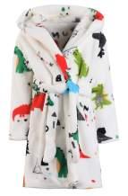 Boys Girls Bathrobes Kids Hooded Robes Plush Soft Fleece Toddler Robes Sleepwear