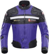 Motorcycle Jacket Motorbike Riding Jacket Windproof Motorcycle Full Body Protective Gear Armor Autumn Winter Moto Clothing (Blue, L)