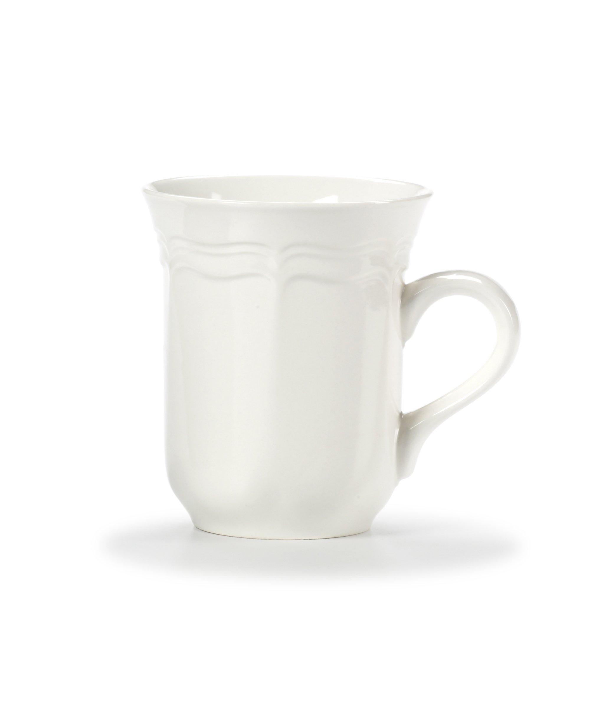 Mikasa French Countryside Cappuccino Mug, White
