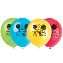 "12"" Latex Breezy Birthday Balloons, 8ct"