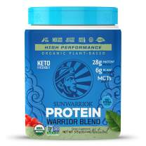 Sunwarrior Organic Vegan Protein Powder with BCAAs and Pea Protein (Warrior Blend - Natural, 15 Servings)
