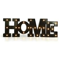 Asense Marquee Lighted Sign 'Home' Shaped LED Word Sign Battery Operated, Black Color, 9.4 X 21 Inches