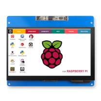 ELECROW 7 inch Capacitive Touch Screen HDMI Monitor with 2.0MP Front Camera 1024x600 TFT LCD Display for Raspberry Pi 4B 3B+ 3B 2B