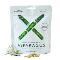 POSHI Asparagus Vegetable Snack | 10 Pack | Keto, Vegan, Paleo, Non GMO, Low Carb, Low Calorie, Gluten Free, Marinated, Steamed, Gourmet, Healthy, Natural, Travel Snack