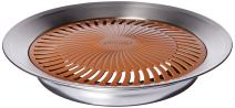 Gotham Steel Titanium and Ceramic Non-stick Smokeless Stove Top Grill - Healthy Indoor Kitchen BBQ Grill