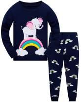 Little Girls Mermaid Pajamas 2 Piece Set 100% Cotton Sleepwear Toddler Clothes for Kids Baby Ladybug Style PJs Size 2-7T