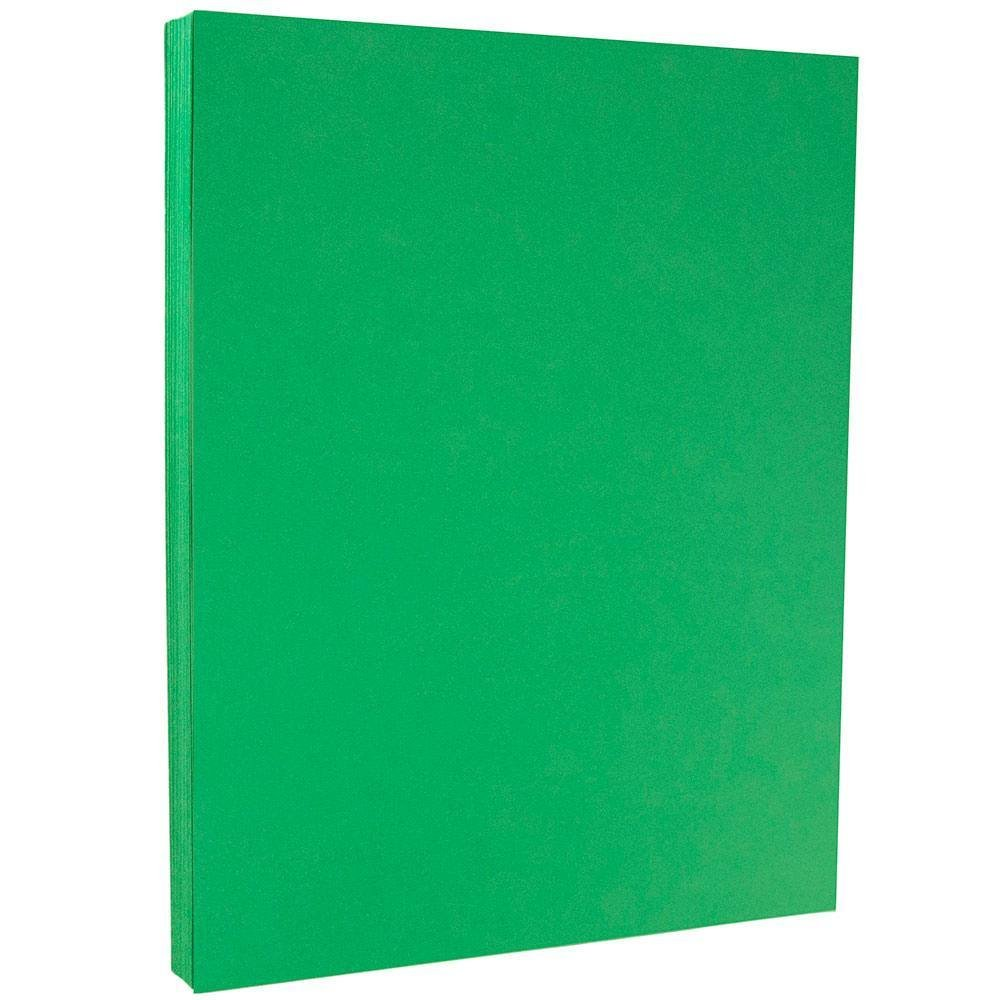 JAM PAPER Colored 65lb Cardstock - 8.5 x 11 Coverstock - Green Recycled - 50 Sheets/Pack