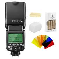 Godox Thinklite TT685C TTL E-TTL 2.4GHz GN60 High Speed Sync 1/8000s Wireless Master Slave Camera Flash Speedlite Speedlight compatible For Canon Cameras+44AA batteries&Charger