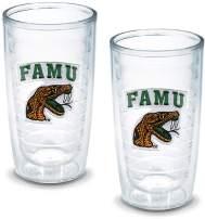 Tervis 1042414 Florida A M University Emblem Tumbler, Set of 2, 16 oz, Clear