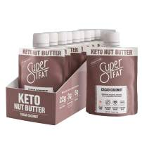 SuperFat Nut Butter Keto Snacks - Macadamia & Almond Nut Butter Fat Bomb Paleo Snack Improves Energy, Metabolism & Brain Function, Vegan, Gluten Free 10 x 1.5 oz (Cacao Coconut)