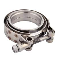 EVIL ENERGY 3 Inch Stainless Steel Exhaust V Band Clamp Male Female Flange
