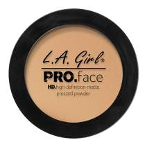 L.A. Girl Pro Face HD Matte Pressed Powder, Soft Honey, 0.25 Ounce (Pack of 3)
