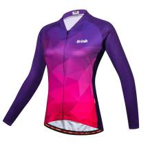 Uriah Women's Cycling Jersey Long Sleeve Reflective with Rear Zippered Bag