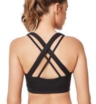 Yvette Strappy Sports Bra Women - Wirefree Workout Yoga Comfortable Bra