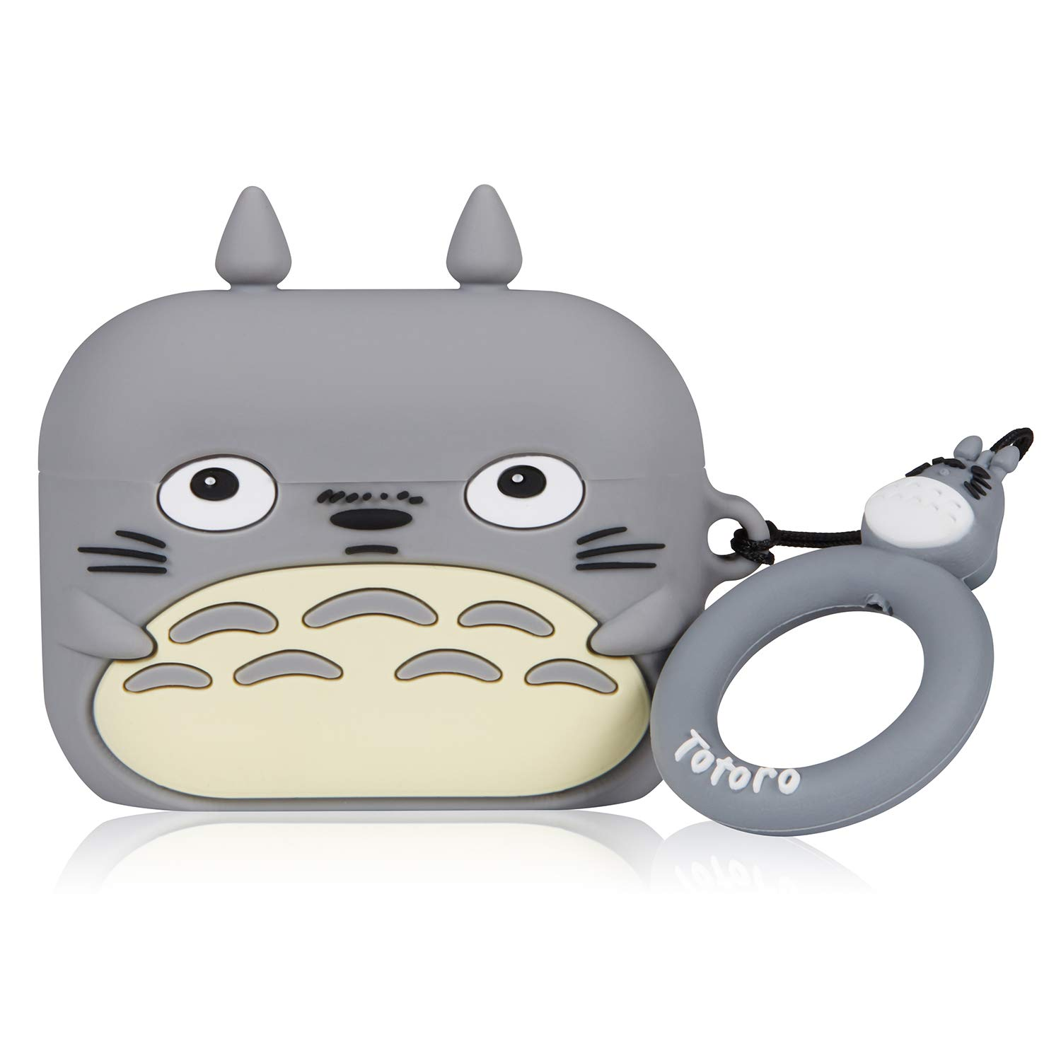 Coralogo Case for Airpods Pro/for Airpods 3 Cute, 3D Animal Fashion Character Soft Silicone Cartoon Airpod Skin Funny Fun Cool Keychain Design Kids Teens Girls Boys Cover Cases Air pods 3 (Totoro)