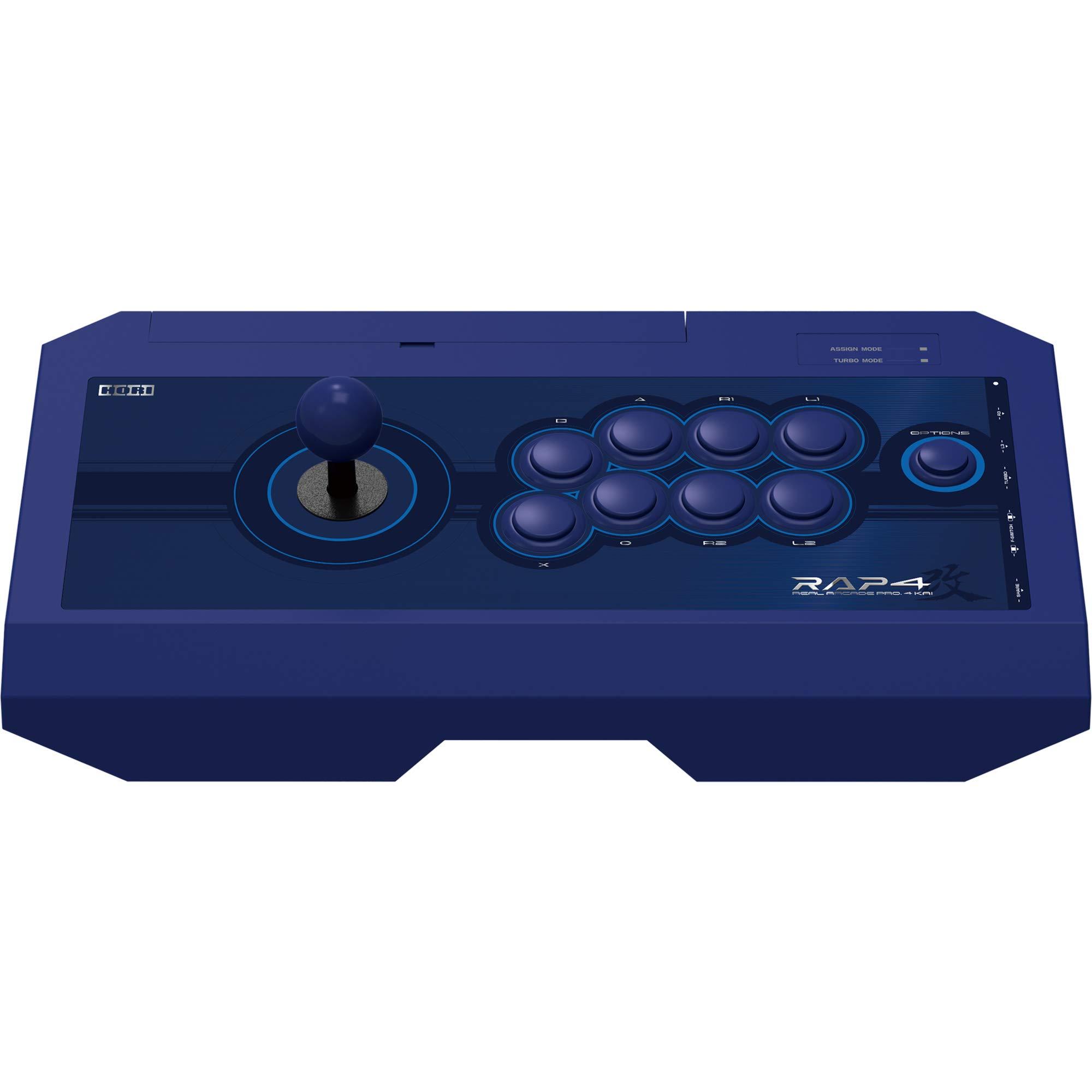 HORI Real Arcade Pro 4 Kai (Blue) for PlayStation 4, PlayStation 3, and PC - PlayStation 4