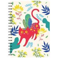 Siixu Large Writing Notebook, Hard Cover Note book to Write in, College Ruled Paper, Lovely Animal Design, 136 Pages, B5, Cat