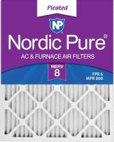 Nordic Pure 12x18x1 MERV 8 Pleated AC Furnace Air Filters 6 Pack